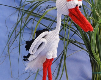 Amigurumi Crochet Pattern - Stuart the Stork