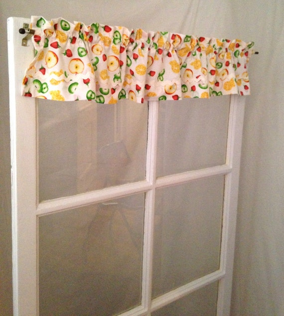 Darling Kitchen Cafe Curtain Very Short Valance Fruit Fabric