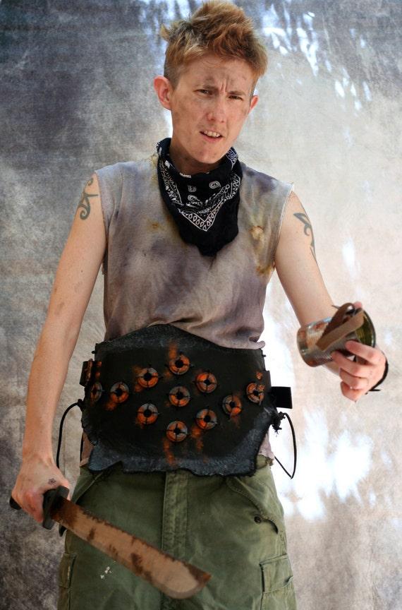 armor black trusty war belt leather armor