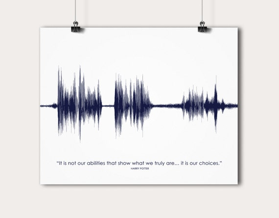 Movie Quotes Wall Art : Movie quote sound wave art wall print entrepreneur birthday