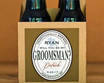 Will You Be My Groomsman Beer Carrier Box - Custom Groomsmen Proposal Gift - Ask Groomsmen Beer - Best Man Proposal Box - Groomsmen Beer Box