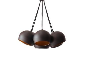 Globe Pendant Chandelier Cluster Light Handmade Vintage Mid Century Modern Lighting Industrial Geometric Minimal Home Decor Hanging Lamp