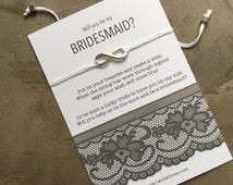 Bridesmaid gift, Knot bracelet, Asking bridesmaid, ask bridesmaids, Will you be my bridesmaid, Bridal party invites, Bridesmaid jewelry, B3