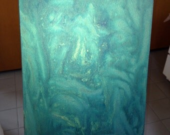 Mystery - an original abstract acrylic painting on canvas