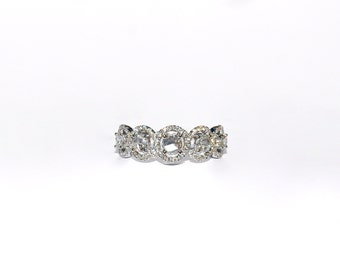 18K Rose Cut Diamond Ring/Band