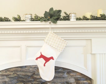 German Shorthaired Pointer Christmas Stocking - Customize Dog Breed