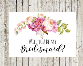 Bewitching image within printable will you be my bridesmaid
