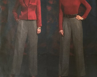 OOP 2919 Vogue (2006) Vogue American Designer by Anne Klein.  Misses' jacket & Pants. Size 6-8-10-12. Complete, unused, FF. EX condition.