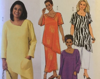 OOP 4243 Butterick (2004) women's top, skirt, pants. Plus Size 22W-24W-26W.  Complete, unused, FF. Excellent condition.