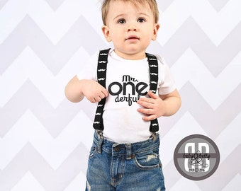 Boys First Birthday Shirt, Boys 1st birthday shirt, DIY, Iron On Transfer, Mr. One derful, 1st Birthday Boy Outfit, First Birthday Shirt