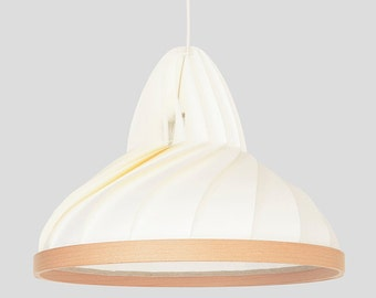 NEW: paper and wood lamp Wave white