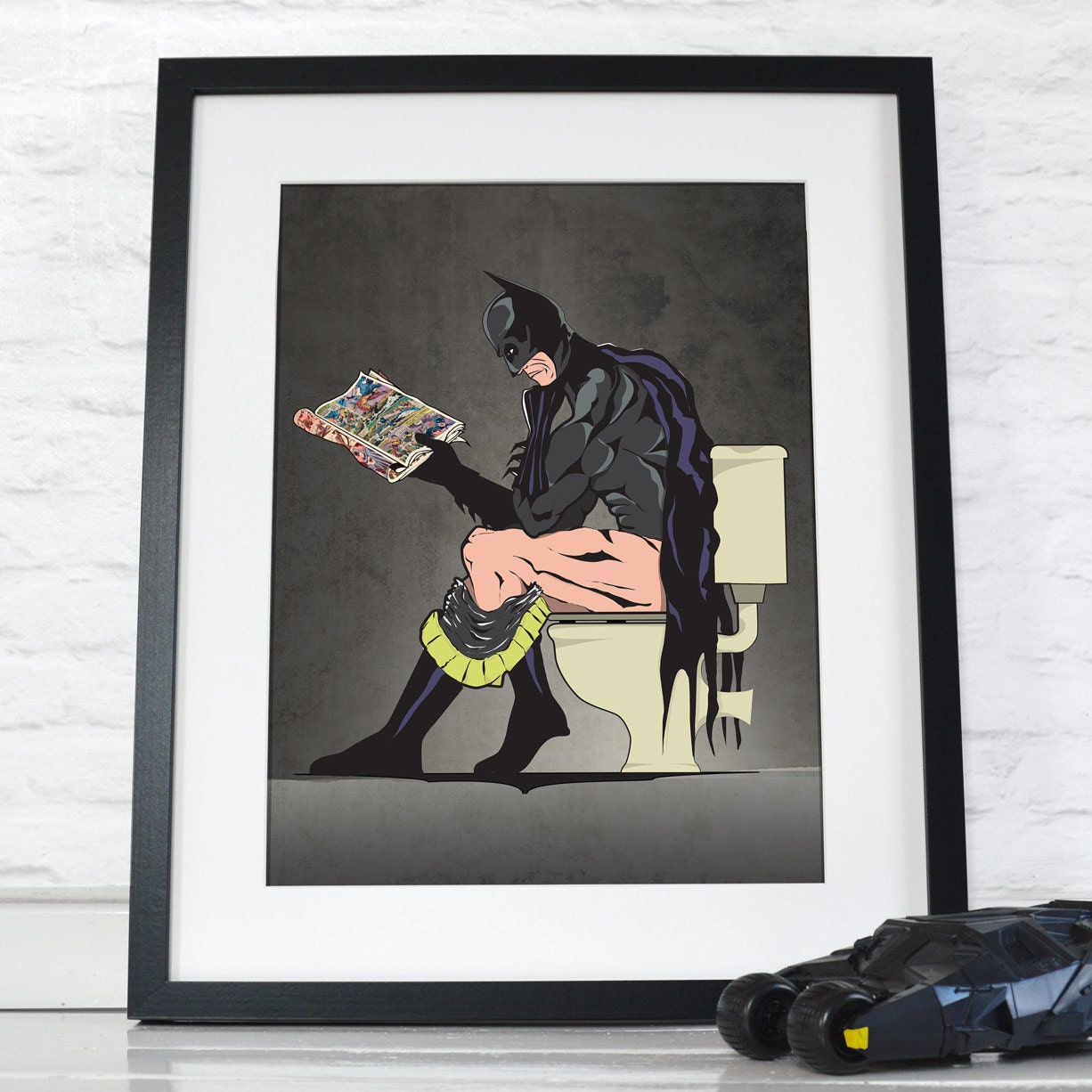 Batman On The Toilet Poster Wall Art Hanging Print Home D 233 Cor
