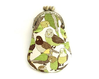 Eyewear cases/pouch of cloth with snap closure, vintage style