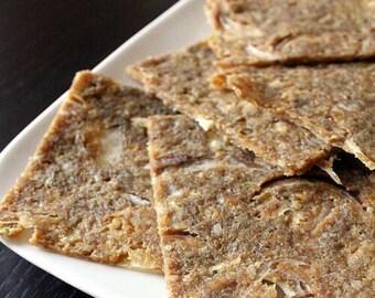 Raw vegan onion bread