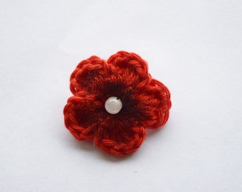 Crochet Remembrance Poppy Pin