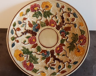 H J Wood Indian Tree Charger In High Relief ~ Large Plate Or Serving Dish ~ 12 Inches Diameter