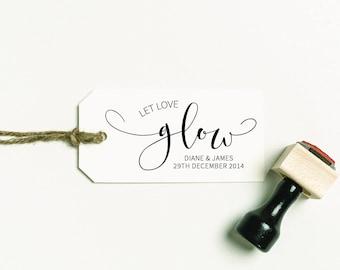 Let Love Glow Stamp, Sparkler Favor Stamp, Candle Favor Stamp, Wedding Favor Stamp, Let Love Glow Favor Stamp  (SFAVS343 - S.3)