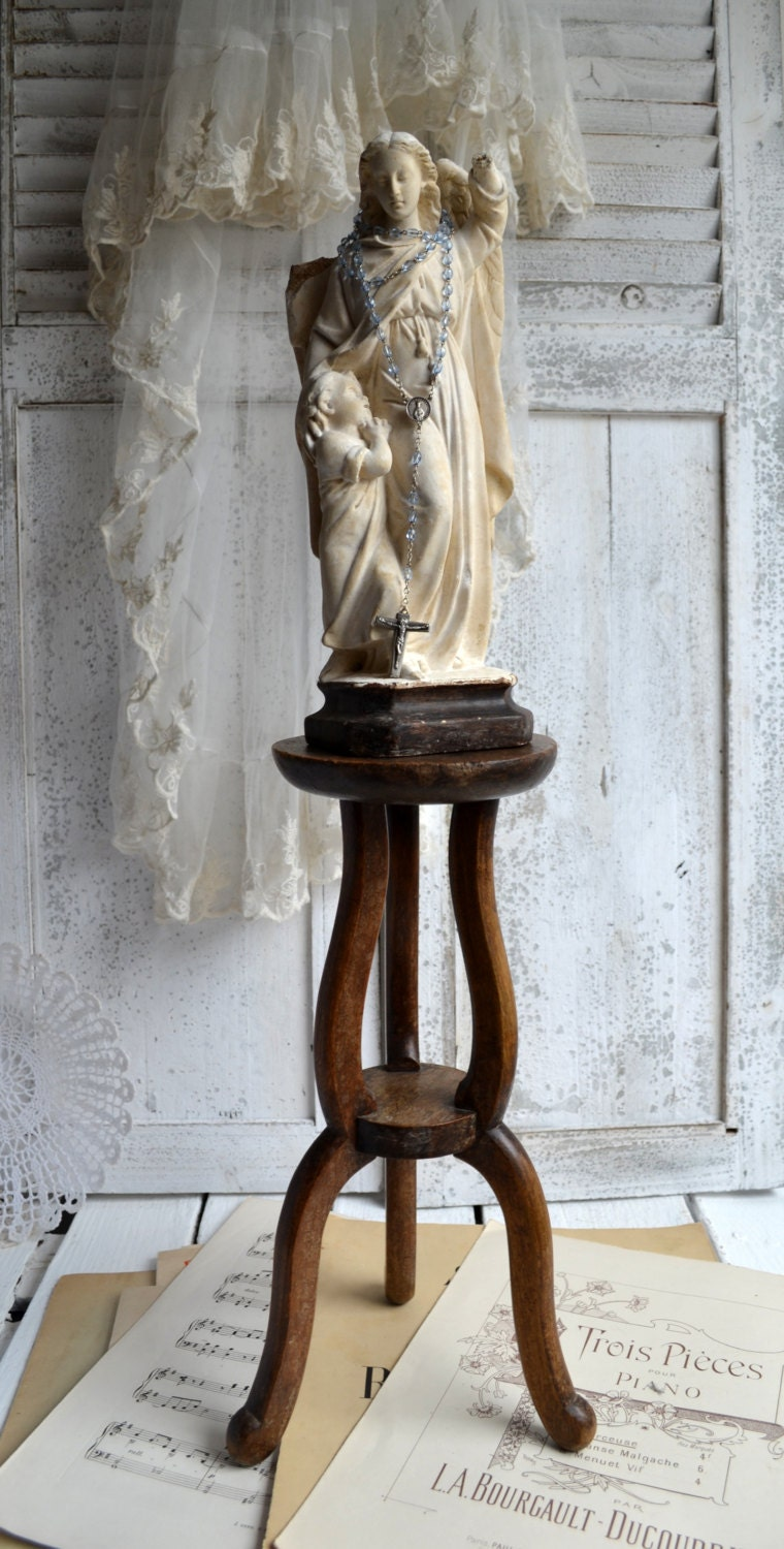 Exhibition Stand Vintage : Antique french wooden pedestal display stand plant