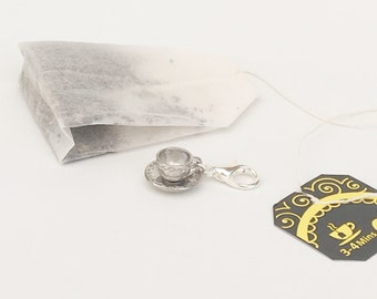 Luxury Tea Cup Stitch Marker Progress Keeper for Knitting and Crochet
