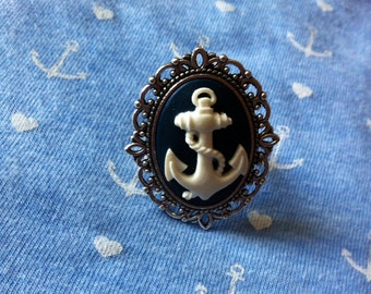 Cameo ring anchor adjustable Navy