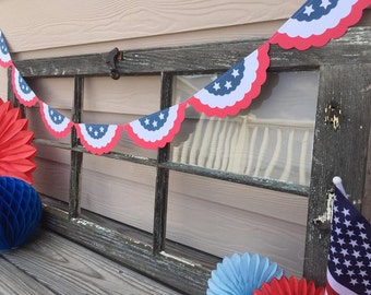 American flag bunting flags garland 4th of july