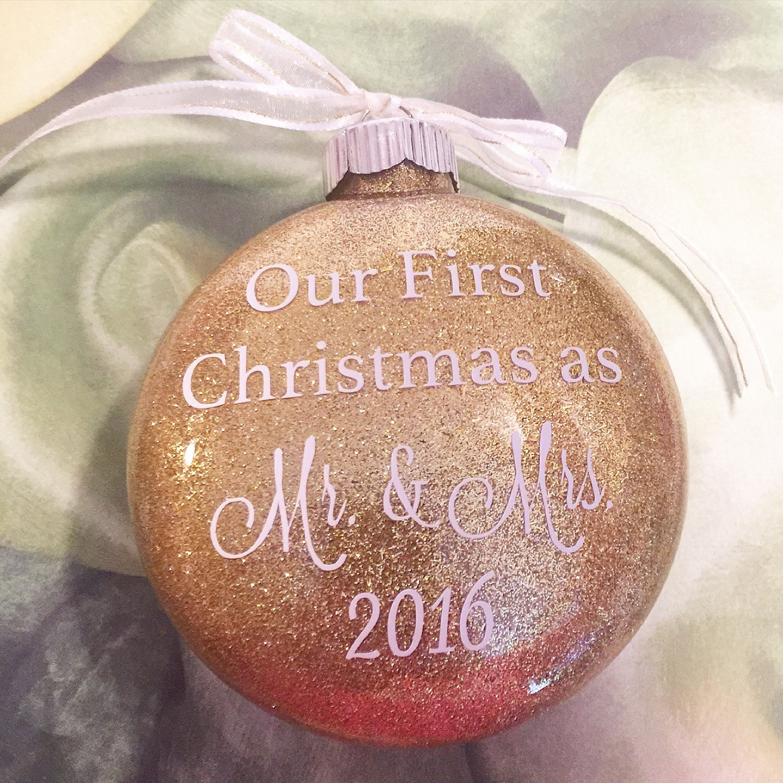 Wedding Christmas Ornaments: Our First Christmas Ornament Wedding Present Bridal Shower