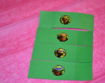 25 Self Adhesive Ninja Turtle Napkin Bands/Napkin Bands/Self Adhesive Napkin Bands/