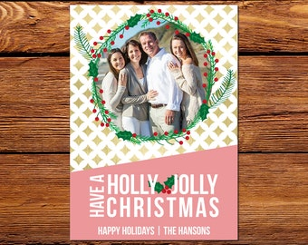 Chirstmas Photo Card, Custom Fun Holiday Photo Card // The Holly & The Ivy