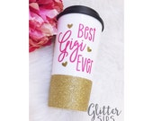 Best _______ Ever Glitter To Go Cup // Travel Cup // Plastic To Go Cup // Glitter To Go Cup//Coffee Cup // Glitter Sips