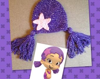 Crocheted Bubble Guppy Hat