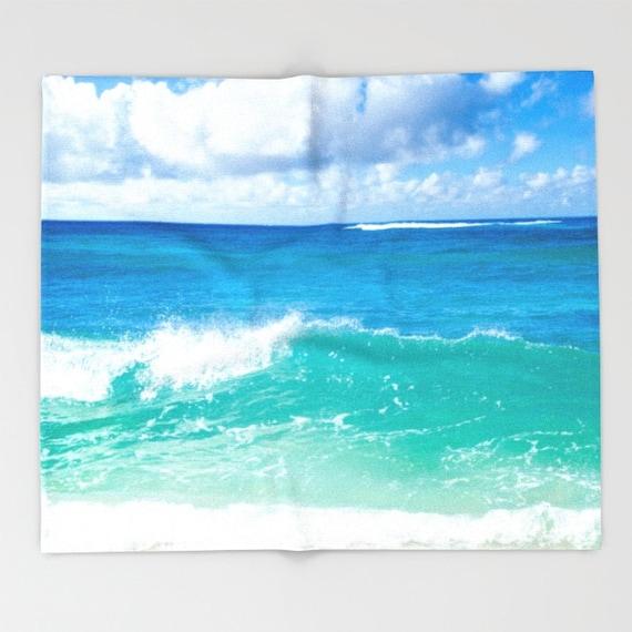 Hawaiian Beach Blanket: Items Similar To Hawaiian Beach Fleece Blanket, Ocean
