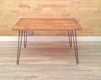 Hairpin Dining Table in Chestnut