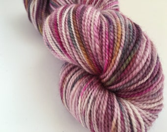 Hand dyed yarn wool/bamboo/silk sock -'Autumn morning - original'