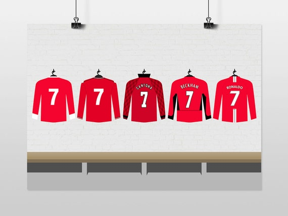 Iconic Manchester United No.7s Poster