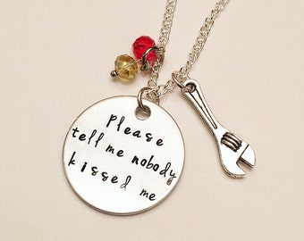 Please Tell Me Nobody Kissed Me Tony Stark Iron Man Marvel The Avengers Charm Necklace