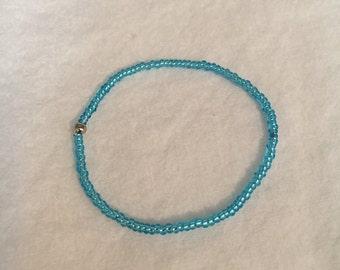 """Blue Stretchy Bracelet 6"""""""