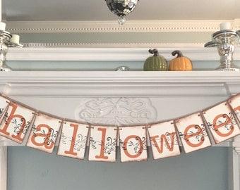 Happy Halloween Banner, Halloween Decoration, Halloween Party Garland,  Fall Decor, Autumn Photo Prop