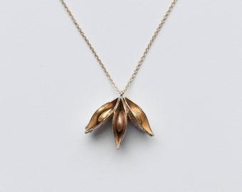 star anise pendant necklace | minimalist jewelry | silver pendant necklace | gold necklace | rose gold necklace