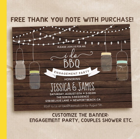 I do bbq invitation / I do BBQ shower / Wedding Shower Invitation / Couples Shower Invite / Couples bbq shower / PRINTABLE