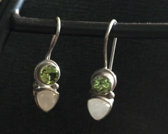 Sterling silver and peridot Gemma earrings