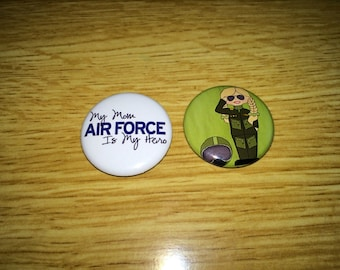 Air Force Mom magnets set of 2