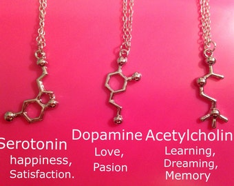 Molecules  pendant necklaces