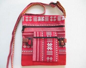 Ethnic Boho Purse Hippie Crossbody Festival Southwestern Adjustable Shoulder Bag Zippered Pouch