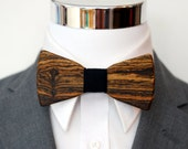 Bocote Wood - Suit up - Wooden Bowtie - Suits - Wood Bowtie - Men's Ties - Interchangeable Neck Strap
