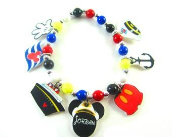 Disney Cruise Charm Bracelet, Disney Cruise Jewelry, Mickey Mouse Bracelet, Mickey Mouse Jewlery, Disney Cruise Line, Disney Gift