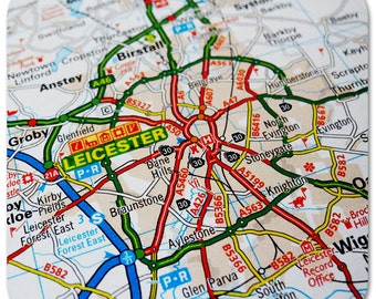 Leicester Map Coasters