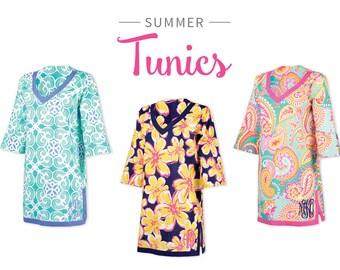 Monogrammed Beach Tunic, Monogrammed Tunic, Beach Tunic, Paisley Tunic, Swimsuit Coverup, Beach Dress, Beach Cover-Up