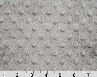 Dimple Dot Minky Cuddle in Steel Grey from Shannon Fabric