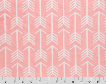 Premier Archer Arrow Cuddle in Coral and Snow from Shannon Fabric