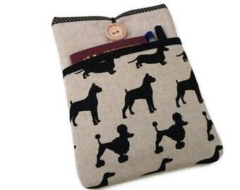 ipad mini 4 Sleeve dogs, iPad mini case, Protective ipad mini cover, Padded ipad mini purse,  iPad mini 2 3 4 - Dogs pocket